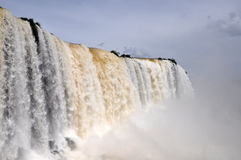 伊瓜苏瀑布巴西人边 免版税库存图片