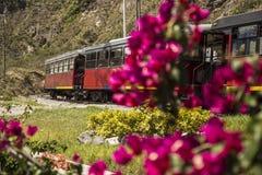 伊瓦拉旅游火车在厄瓜多尔在南美 图库摄影