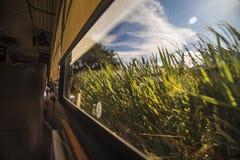 伊瓦拉旅游火车在厄瓜多尔在南美 免版税库存照片
