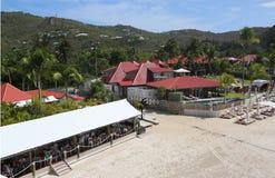 伊甸园岩石旅馆在圣Barts,法属西印度群岛 免版税库存图片