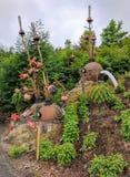 伊甸园项目雕塑 库存图片