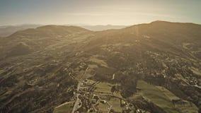 伊米莉亚罗马甘地区美好的多小山风景空中射击在意大利 股票视频