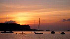 伊维萨岛日落2 库存照片