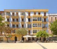 伊维萨岛,西班牙:咖啡馆文化 晴朗 库存照片
