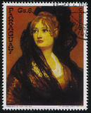 伊莎贝尔Cobos de porsel夫人画象Francisko de Goya 图库摄影