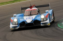 伊莫拉,意大利2016年5月13日:阿尔加威赞成赛跑的PRT D Ligier JS P2 -在伊莫拉榆木回合的日产2016年 库存图片