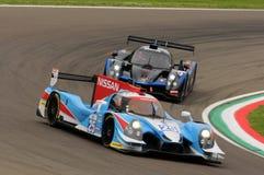 伊莫拉,意大利2016年5月13日:阿尔加威赞成赛跑的PRT D Ligier JS P2 -在伊莫拉榆木回合的日产2016年 免版税库存图片