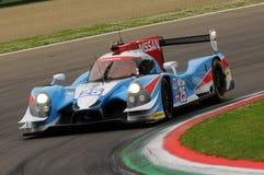 伊莫拉,意大利2016年5月13日:阿尔加威赞成赛跑的PRT D Ligier JS P2 -在伊莫拉榆木回合的日产2016年 库存照片