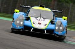 伊莫拉,意大利2016年5月13日:M 赛跑- YMR FRA Ligier JS P3 -日产托马斯劳伦特FRA伊莫拉榆木回合的Yann Ehrlacher 2016年 库存照片