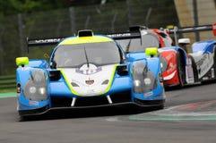 伊莫拉,意大利2016年5月13日:M 赛跑- YMR FRA Ligier JS P3 -日产托马斯劳伦特FRA伊莫拉榆木回合的Yann Ehrlacher 2016年 免版税图库摄影