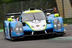 伊莫拉,意大利2016年5月13日:M 赛跑- YMR FRA Ligier JS P3 -日产托马斯劳伦特FRA伊莫拉榆木回合的Yann Ehrlacher 2016年 库存图片