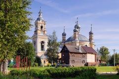 伊莱亚斯教会在城市Staritsa,俄罗斯 库存图片