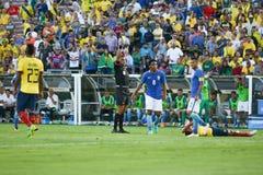 伊莱亚斯8给出一个黄牌在Copa美国Centenario期间 库存图片