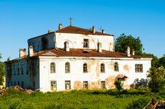 伊莱贾教会Slavna的先知在Veliky诺夫哥罗德,俄罗斯 免版税库存照片