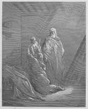 伊莱贾培养Zarephath的寡妇的儿子 图库摄影