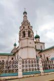 伊莱贾教会先知,雅罗斯拉夫尔市,俄罗斯 免版税库存图片