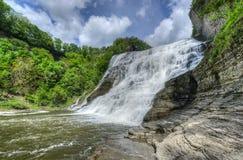 伊萨卡岛Falls,纽约 库存图片