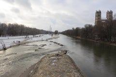 伊萨尔河视图 库存图片