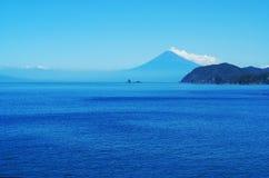 从伊豆的富士山 库存照片