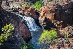伊迪丝秋天上部小瀑布,凯瑟琳,澳大利亚 免版税库存照片