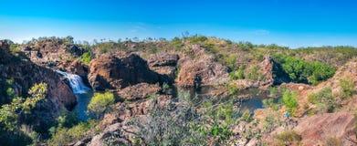 伊迪丝跌倒全景,北方领土,澳大利亚 免版税库存照片