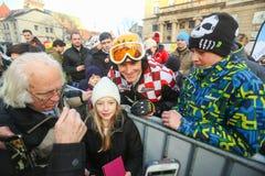 伊维察Kostelic FIS世界雪天 库存图片