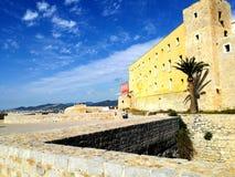 伊维萨岛城堡  库存图片