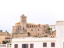 伊维萨岛大教堂 免版税库存图片