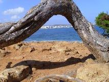 伊维萨岛曲拱 库存照片