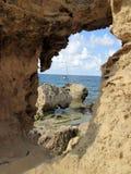伊维萨岛海岛海岸线 库存图片