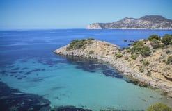 伊维萨岛海滩 库存图片