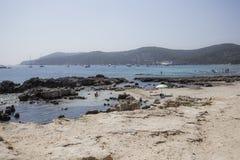 伊维萨岛海滩 免版税库存图片