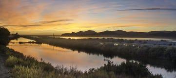 伊维萨岛自然公园Las盐沼 免版税库存照片