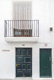 伊维萨岛建筑学 免版税图库摄影