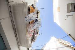 伊维萨岛洗衣店 免版税图库摄影
