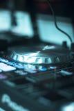 伊维萨岛dj转盘混合 库存图片