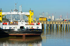 伍利奇轮渡,泰晤士河,伦敦 库存照片