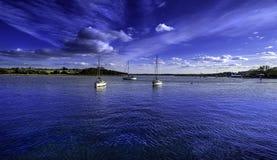 伍德布里奇港口在萨福克 免版税库存照片