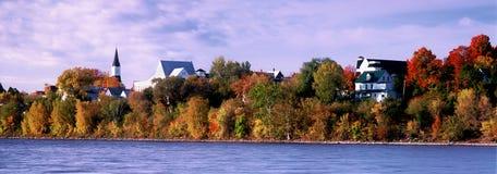 伍德斯托克全景在秋天 免版税库存图片