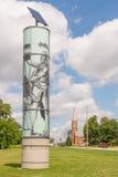 伍德沃德大道在伍德沃德梦想巡航的进贡雕塑 库存图片
