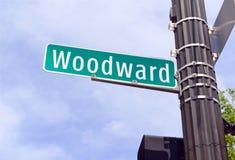 伍德沃德大道,底特律密执安 免版税库存图片