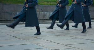 """伏尔加格勒†""""10月15日:军事游行 免版税图库摄影"""