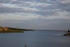 伏尔加格勒地区的惊人的浩瀚 河山Balykley 免版税图库摄影