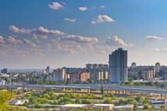 伏尔加格勒城市视图  免版税库存图片