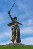 伏尔加格勒雕象 库存图片