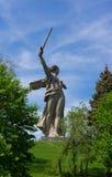 伏尔加格勒雕象2 库存图片