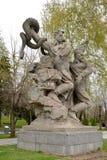 伏尔加格勒,俄国 在英雄的雕刻的构成`法西斯主义崩溃`摆正 kurgan的Mamayev 库存照片