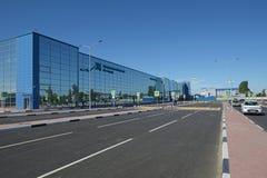 伏尔加格勒,俄罗斯- 2018年5月28日:Gumrak国际机场 免版税库存图片