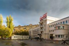 伏尔加格勒,俄罗斯- 11月04 2016年 旅馆是在奥斯特洛夫斯基街上的老斯大林格勒 库存图片