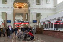 伏尔加格勒,俄罗斯- 11月04 2016年 火车站内部  免版税库存照片